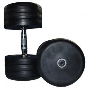 Dumbell 34 kg. de borracha com pegada recartilhada( par)