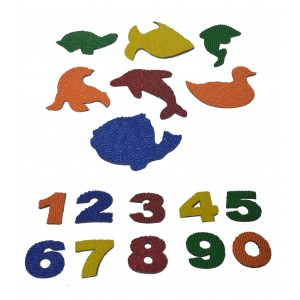 kit de figuras e números afunda