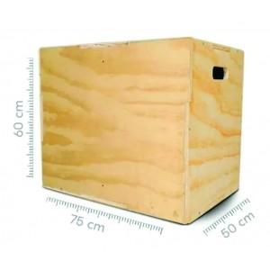 Caixote de madeira 60x75x50