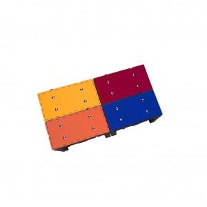 kit plataforma redutora de profundidade - 4 módulos - 1,64m x 82 cm x 49cm